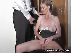 Naughty amateur Milf sucks and fucks with cumshot tubes