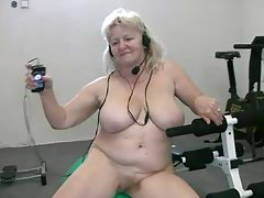 Fat granny working out naked tubes