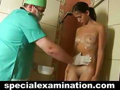 Gyno doctor examines sweet shy 19 yo Lena tubes