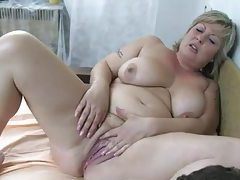 He has delighful threesome with granny and milf tubes