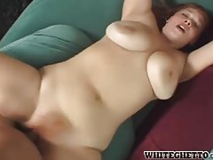 Fat hairy redhead fucked with a cumshot tubes
