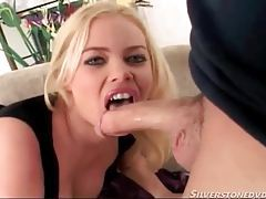 Big lips chick with curves sucks on big cock tubes