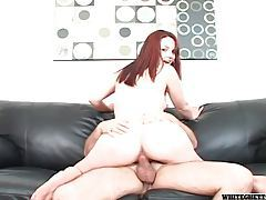 Eaten out redhead sits on his cock tubes