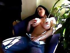Erotic solo tease stars big breasted brunette tubes