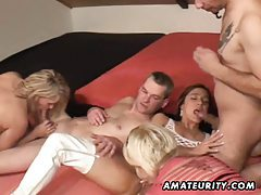 3 amateur Milf share 2 cocks ! Homemade groupsex action tubes