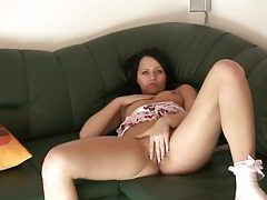 Amateur loves fingers in her tight pussy tubes