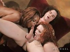 Interracial anal scene with two dirty sluts tubes