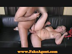 FakeAgent Busty blonde with Super tight pussy tubes