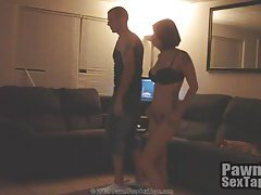 Couple plays video games and she gets naked tubes