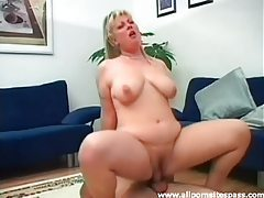 Fat blonde with tattoos fucked in the cunt tubes