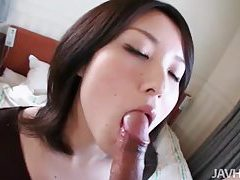 Dude fondles her tits and gets a blowjob tubes
