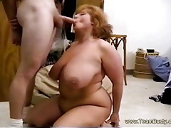 Fat Mama Gives BJ,Rides Cock and Takes Cumshot in Huge Boobs tubes