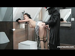 Anal sex for glam couple in costumes tubes