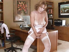 Horny office secretary milf masturbation tubes