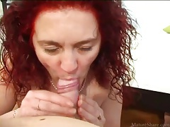 Mature redhead sucks dick sensually tubes