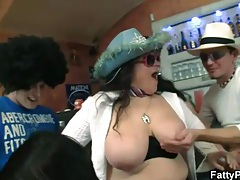 Titjobs and blowjobs from BBW sluts at party tubes