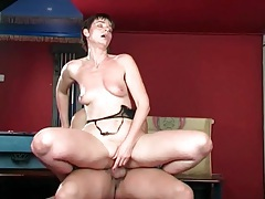 Milf gets sweaty riding cock with passion tubes