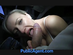 PublicAgent Blonde ExGirlfriend Rides my Cock in my Car tubes