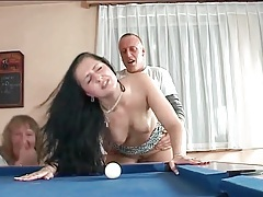 Bent over pool table and fucking from behind tubes