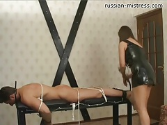 Tied and beaten by his beautiful mistress tubes