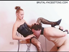 Hot pussy and ass worship session with mistress tubes