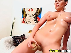 Horny Blonde Strips and Masturbate HD tubes