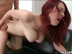 Casting couch fuck session with curvy redhead tubes