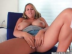 Brandy Talore fondles her incredible tits tubes
