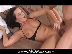MOM Busty MILF takes his length tubes