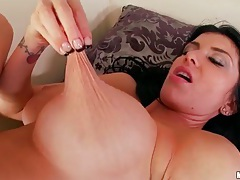 Double hole fingering stars big tits brunette tubes