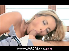 MOM busty MILF gets creampied tubes