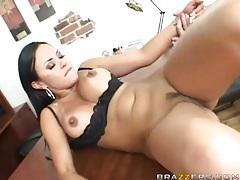 Cumshot on tits of slutty pornstar Mariah Milano tubes