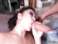 Happy Asian with huge tits sucks a dick tubes