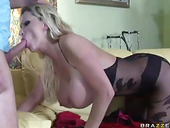 Sharon Pink in lipstick and boots fucked hardcore tubes