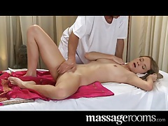 Massage Rooms Strong expert hands make her tingle all over tubes