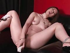 Dildo fucks a wet Japanese pussy hard tubes