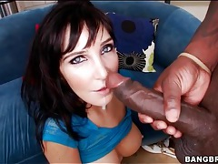 Diana Prince delightedly rides big black cock tubes