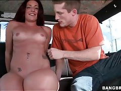 He fucks a hottie in the van and she is a slut tubes