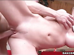 Moaning blonde with tremendous body fucked tubes