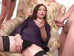 Milf likes all these guys masturbating to her tubes