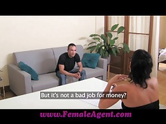 FemaleAgent Cums to command tubes