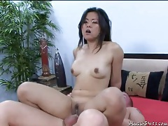 Asian in pretty dress stripped and fucked hard tubes