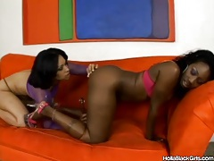 Curvy black girls use their toys in lesbian video tube