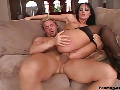 Black haired girl in an anal hardcore video tubes