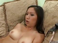 Asian slut in heels seduces white guy for sex tubes