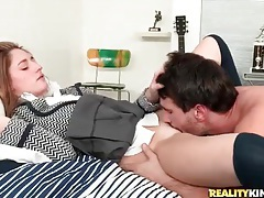 He eats out a perfect schoolgirl and fucks her tubes