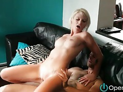 He plows hard dick into skinny shaved blonde tubes