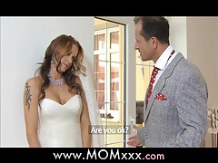 MOM Wife to be get fucked at her wedding tubes