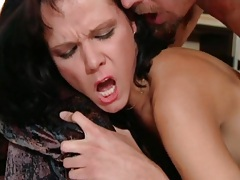Slow fingering and fucking of her ass tubes