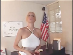 Throat fucking a hot blonde with big fake tits tubes